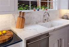 Kitchen Counter With Sink by White Quartz Kitchen Sink Integrated With The Quartz