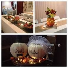 fall rehearsal dinner decor things i have made