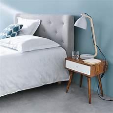 tete de lit grise t 234 te de lit capitonn 233 e vintage en tissu grise l140 iceberg maisons du monde