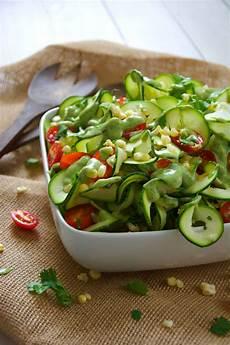 sweet corn cherry tomato zucchini salad with avocado