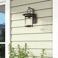 gracie oaks lavardens 1 light outdoor wall lantern reviews wayfair