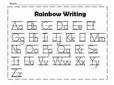 handwriting worksheets uppercase and lowercase 21595 rainbow writing uppercase and lowercase letters by hammer