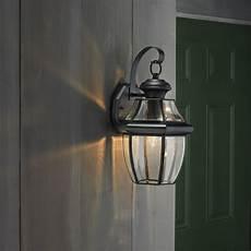 50 shop portfolio brayden 14 13 in h mystic black outdoor wall light at lowes com outdoor