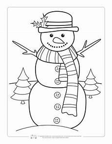 Ausmalbilder Winter Schneemann Winter Coloring Pages Itsybitsyfun