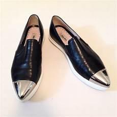Miu Miu Shoes Metal Cap Toe Sneakers Poshmark