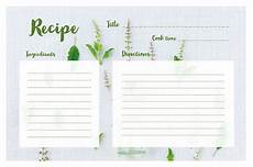 ingredient list template search recipe cards