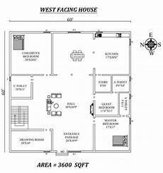vastu plan for west facing house 60 x 60 spacious 3bhk west facing house plan as per vastu