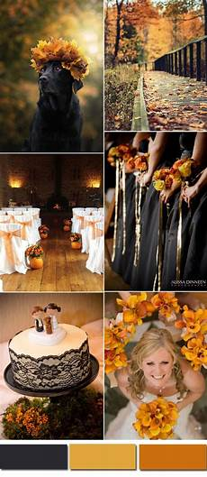 five awesome fall wedding colors in shades of black fall