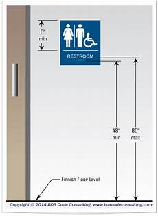 Bathroom Sign Placement by Bds Code Consulting Installation Of Toilet Room Sinage