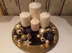 adventskranz schwarz gold beige weihnachten
