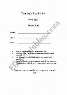 poetry worksheets for year 8 25285 worksheets year 8 poetry test