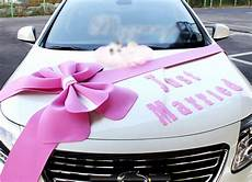 wedding car decorations kit big ribbons pink bows set just