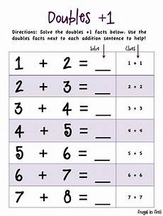 addition worksheets plus 1 9008 frugal in students solve doubles 1 equations by using the doubles fact as a clue math
