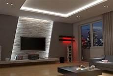 wohnzimmerwaende ideen led indirekte beleuchtung verblendsteine fernseher wohnzimmerwand ideen