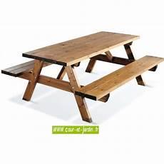 Table Pique Nique Bois Avec Banc De Jardin Pas Cher