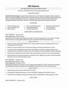 resume format of sales manager sales manager resume sle monster com
