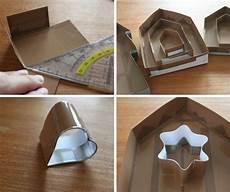 gießformen für beton deko beton basteln giessform aus pappe selber machen haeuser
