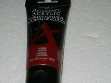 new grumbacher academy acrylic paint alizarin crimson color 75ml c001p chartpak ebay