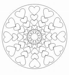 mandala mit herzen mandala ausdrucken