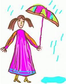 Gratis Malvorlagen Regenschirm Damen Maedchen Mit Regenschirm Ausmalbild Malvorlage