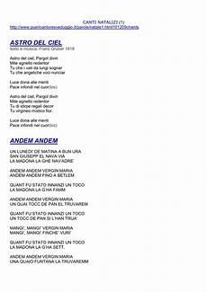 una notte in italia testo canti natalizi 1 http www puericantoresveduggio it parole