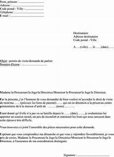 Exemple De Lettre Demande De Parloir De Prison Permis De