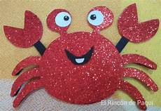 cangrejo en foami como hacer cangrejo en foami imagui el rinc 243 n de paqui reto verano