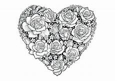 roses and hearts coloring pages best coloring pages for