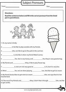 grammar worksheet for grade 1 25174 https www myslpmaterials subject pronoun speech language worksheet grammar