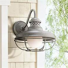 franklin park metal cage 16 quot high steel outdoor wall light 4f500 ls plus