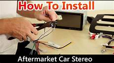 how to correctly install an aftermarket car stereo wiring harness and dash kit youtube