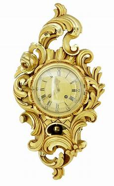 swedish westerstrand carved gilt ornate wall clock c