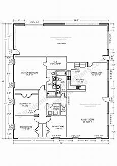 4 bedroom barn house plans barndominium floor plans 4 bedroom barn house plans