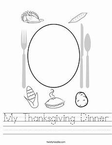 my thanksgiving dinner worksheet twisty noodle