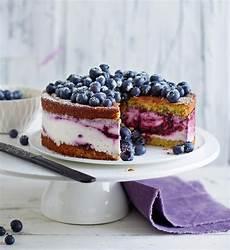 quark sahne blaubeer torte rezept essen trinken