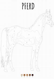 malen nach zahlen pferd zum ausdrucken 187 pdf kribbelbunt