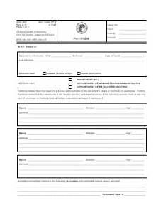 form aoc 805 download printable pdf petition kentucky templateroller