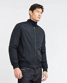 Large Bomber Jacket With Quilted Lining Casual