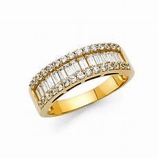 14k solid yellow gold 1 75 ct diamond wedding band anniversary ring baguette ebay