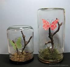 basteln mit einmachgläsern danee s stin delights upcycled glass jars butterfly