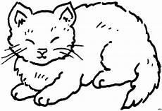 Malvorlage Sitzende Katze Sitzende Katze Mit Augen Zu Ausmalbild Malvorlage Tiere
