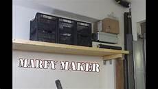 mensole per garage piccolo soppalco in legno fai da te small wooden