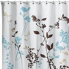 Reflections Purple Fabric Shower Curtain