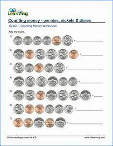 money worksheets pennies 2288 grade 1 counting money worksheet on pennies nickels and dimes money worksheets counting