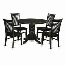 east west furniture shelton 5 piece thin slat back dining table walmart com