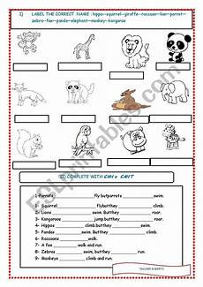 animals abilities worksheets 13782 animals and their abilities can can 180 t worksheet esl worksheet by robertperu