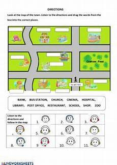 giving directions worksheets esl 11669 giving directions interactive worksheet