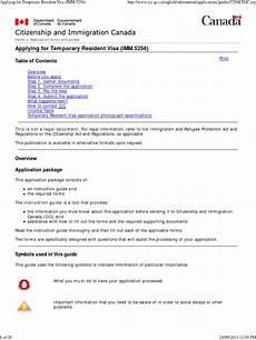 applying for temporary resident visa imm 5256 pdf visa