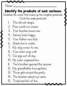 subject predicate 2nd grade by rock paper scissors tpt