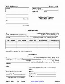 fillable online mncourts satisfaction of judgment minnesota judicial branch mncourts fax